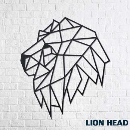 Dřevěné designové puzzle Hlava lva