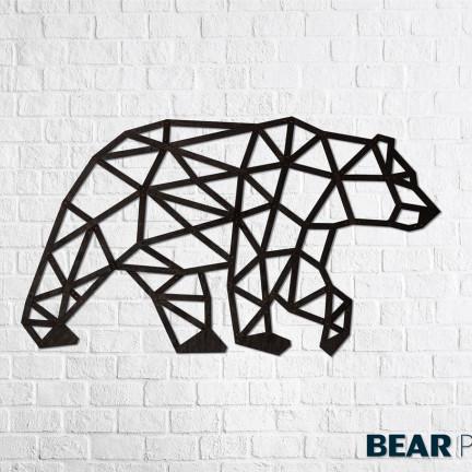 Dřevěné designové puzzle Medvěd