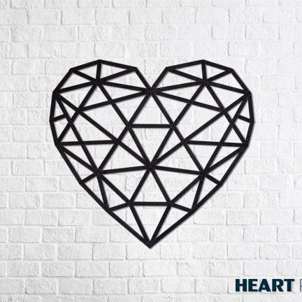 Dřevěné designové puzzle Srdce