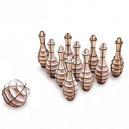 Dřevěný 3D bowling
