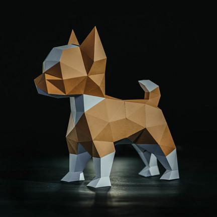 Papírový 3D model – Pes