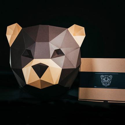 Papírový 3D model – Medvěd