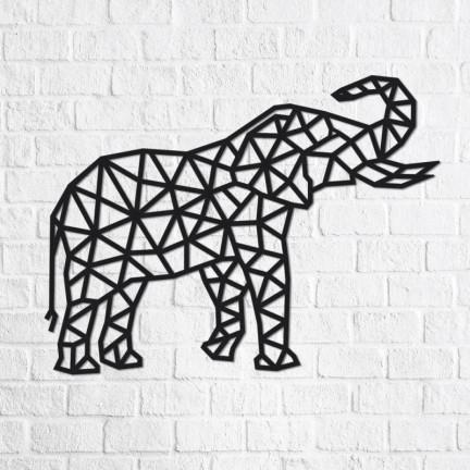 Dřevěné designové puzzle Slon