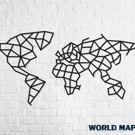 Dřevěné designové puzzle Mapa světa