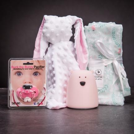 Set praktických doplňků pro miminka – růžová